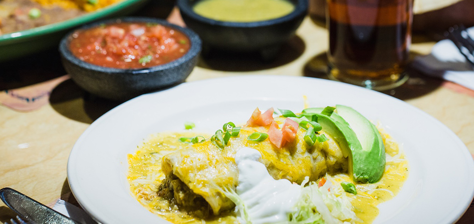 Try our Amigo Spot enchiladas!.